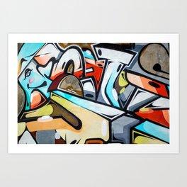Wall Graffiti Art Print
