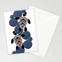 Aboriginal Art - Sea Turtles 2 Stationery Cards
