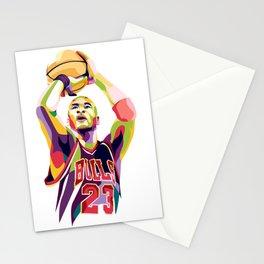 Jordan pop art Stationery Cards