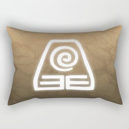 Avatar Earth Bending Element Symbol Rectangular Pillow