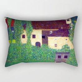 Gustav Klimt Unterach Manor Rectangular Pillow