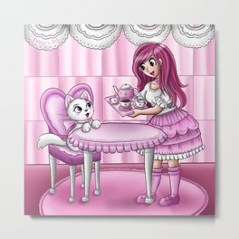 Lolita tea party Metal Print