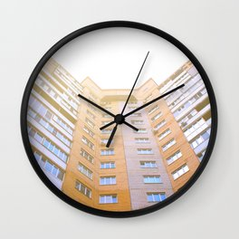 view of a multi-storey building from below Wall Clock