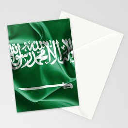 Saudi Arabia Flag Stationery Cards