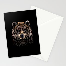 Tribal Frontal bear Stationery Cards