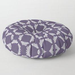 Meteorite Purple Arts and Crafts Butterflies Floor Pillow
