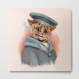 Sailor Cat - Louis Wain Cats Metal Print