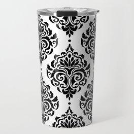 Black and White Damask Travel Mug