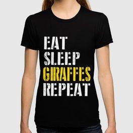 eat sleep giraffes repeat for men T-shirt