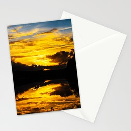Sundown At Lake Heve 6 Stationery Cards