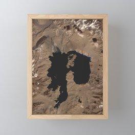 1041. Lake Karakul, Tajikistan Framed Mini Art Print