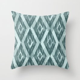 Pine and Mint Ikat Throw Pillow