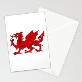 Welsh Dragon With a Bevel Effect Stationery Cards