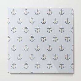 Stormy Nautical Pattern 1 Metal Print