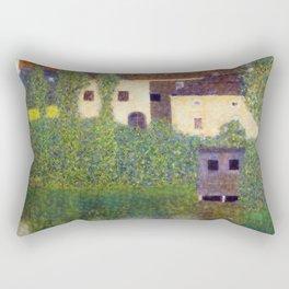 Gustav Klimt Kammer Castle on Lake Attersee Rectangular Pillow