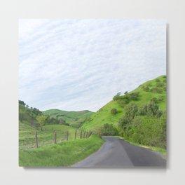 Northern California country road Metal Print