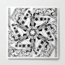 Medieval Madness Mandala Gothic Symmetry Metal Print