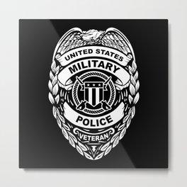 U.S. Military Police Veteran Security Force Badge Metal Print
