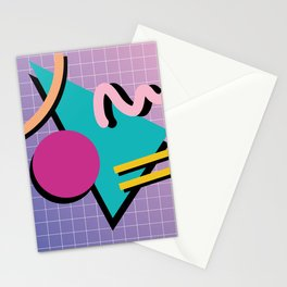 Memphis Pattern 10 - 90s - Retro Stationery Cards