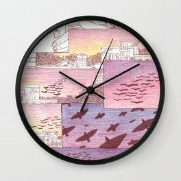 over head Wall Clock