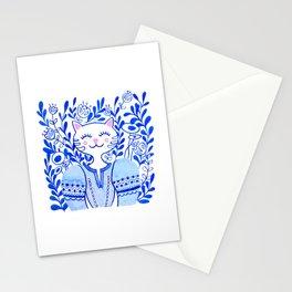 Folk Cat Stationery Cards