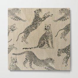 tan leopard pattern Metal Print