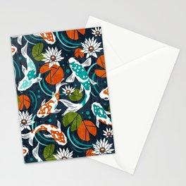Koi Pond - Orange Stationery Cards