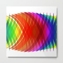 Pineapple Rainbow Metal Print
