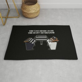 You Can Never Have Too Many Keyboards Rug