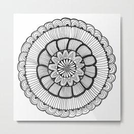 Flower Mandala Metal Print