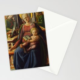 "Fra Filippo Lippi ""Madonna and Child Enthroned with Two Angels"" Stationery Cards"
