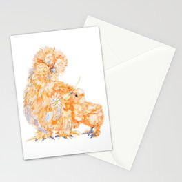 Silkie Chickens - Daisy Stationery Cards