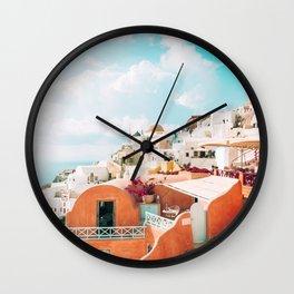 Santorini Glance Wall Clock