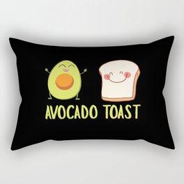 Avocado Toast Art Work | Gift Idea Rectangular Pillow