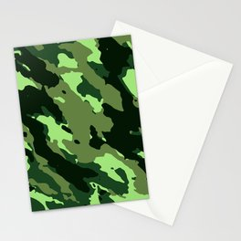 Green Camouflage Pattern Decoration Stationery Cards