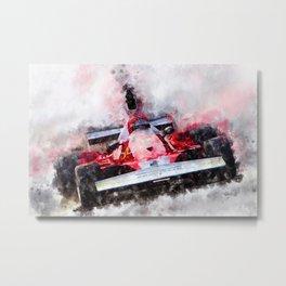 Niki Lauda No.1 Metal Print