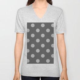 Polkadot (Gray & Grey Pattern) Unisex V-Neck
