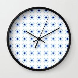 Symmetric patterns 148 blue Wall Clock