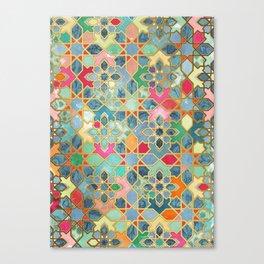 Gilt & Glory - Colorful Moroccan Mosaic Leinwanddruck