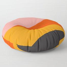 Geometric Sunset Print - art, interior, drawing, decor, design, bauhaus, abstract, decoration, home, Floor Pillow