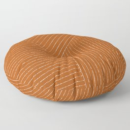 Lines (Rust) Floor Pillow