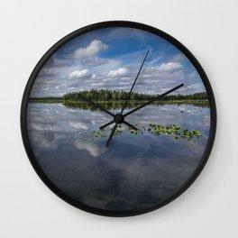 Tranquility At Its Best 2 - Alaska Wall Clock
