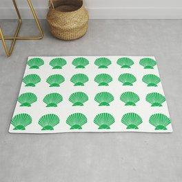 Green Seashell Rug