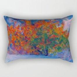 Abstract Autumn Tree Artistic Painting Rectangular Pillow