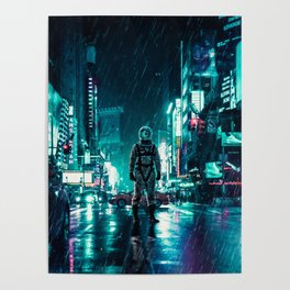 Another Rainy Night ( The Continuous Tale Of The Lost Astronauta) Poster