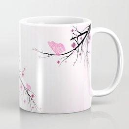 Pink Cherry Blossom Flowers Coffee Mug
