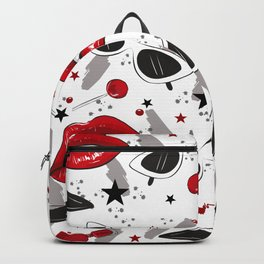 Red Lips and Black Heels Backpack