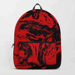 Red & Black liquid ink Backpack
