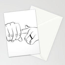 fuck finger print, fucking hands art Stationery Cards