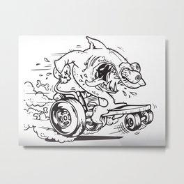 Shark Fink Metal Print